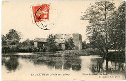 72 - La Chapelle Saint Aubin: Le Moulin Aux Moines CPA - Altri Comuni