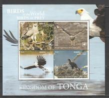 NW0426 2019 !!! SALE TONGA FAUNA BIRDS OF PREY EAGLES BL131 MNH - Adler & Greifvögel