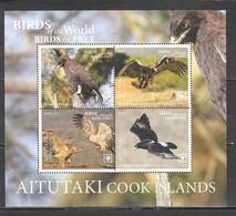 NW0402 2019 !!! SALE AITUTAKI FAUNA BIRDS OF PREY EAGLES BL118 MNH - Adler & Greifvögel
