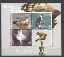 NW0432 2019 !!! SALE NIUAFO'OU FAUNA BIRDS OF PREY EAGLES BL87 MNH - Adler & Greifvögel