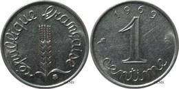 France - Ve République - 1 Centime Épi 1969 Queue Longue - SUP/AU58 - Fra3701 - A. 1 Centime