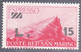 SAN MARINO   SCOTT NO E17    MINT HINGED   YEAR  1947 - Airmail