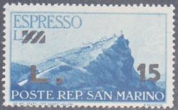 SAN MARINO   SCOTT NO E18    MINT HINGED   YEAR  1947 - Airmail