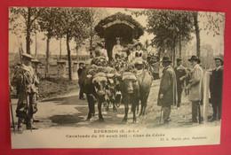 28 Epernon Cavalcade 1911 Char De Cérès TB Animée éditeur Martin Maintenon Dos Scanné N°B1 - Epernon