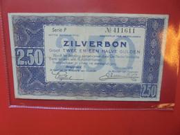 PAYS-BAS 2 1/2 Gulden 1938 VARIETE 1 SEULE LETTRE Circuler (B.22) - 2 1/2 Gulden