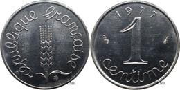 France - Ve République - 1 Centime Épi 1977 - SPL/MS63 - Fra0193 - A. 1 Centime