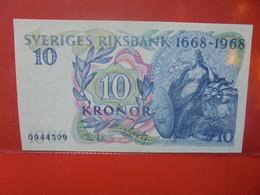 SUEDE 10 KRONOR 1968 Peu Circuler/Neuf (B.22) - Sweden