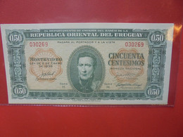 URUGUAY 50 Centimos 1939 Peu Circuler(B.22) - Uruguay