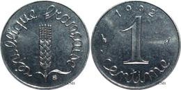 France - Ve République - 1 Centime Épi 1992 - SUP/MS60 - Fra3720 - A. 1 Centime