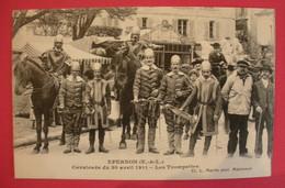 28 Epernon Cavalcade 1911 Les Trompettes TB Animée éditeur Martin Maintenon Dos Scanné N°B5 - Epernon