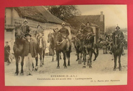 28 Epernon Cavalcade 1911 Lansquenais TB Animée éditeur Martin Maintenon Dos Scanné N°B7 - Epernon
