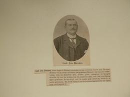 """Origineel Knipsel ( C 614 ) Uit Tijdschrift  """" Ons Volk """"  1911 :  Lod. Jos. Kennes  Ramsel - Unclassified"""