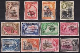 Ghana 1957 MiN°5/16 12v Cpl Set MNH/** Vedere Scansione - Ghana (1957-...)