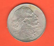 Cecoslovacchia 100 Corone 1971 Korun Czechoslovakia 100° Death Josef Manes Silver Coin - Czechoslovakia