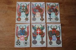6 Chromos Anciens  Chocolat IBLED  Les Médailles    Lot 31 - Ibled
