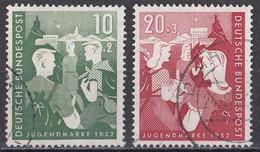 Bund 1952 - Mi.Nr. 153 - 154 - Gestempelt Used - Gebraucht