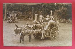 28 Epernon 1912 Carte-Photo Villa Savonnière Voiture Avec âne Attelé  TB Animée Sans éditeur Dos Scanné - Epernon