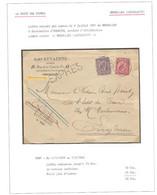 EX19/ TP 46-48 S/L.Exprès Aimé Keyaerts Huissier C.BXL (Législatif) 1891 > Notaire à Enghien C.T.en Arrivée - 1884-1891 Leopoldo II