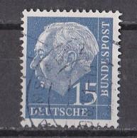 Bund 1960 - Mi.Nr. 184 Y - Gestempelt Used - Fluoreszierendes Papier - Usati