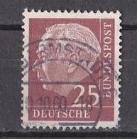 Bund 1960 - Mi.Nr. 186 Y - Gestempelt Used - Fluoreszierendes Papier - Usati