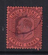 India: 1902/11   Edward      SG135    12a       Used - 1902-11  Edward VII