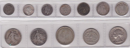 WORLD, Lot Of 12 Silver Coins - Other Coins