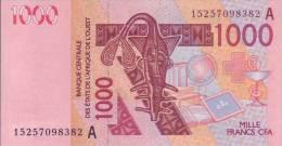 1.000  FRANCS  B.C.E.A.O 2015  LETTRE  A  (  COTE  D' IVOIRE  ) - Côte D'Ivoire