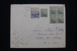 FRANCE - Enveloppe De Gan Pour Nœux Les Mines En 1929, Affranchissement Orphelins Surchargés Dont Bloc De 4 - L 93290 - 1921-1960: Moderne