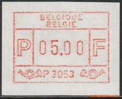 België 1983 - OBP:ATM 53 GD/IG, Machine Stamp - XX - White Paper Gum Print - Postage Labels