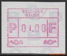 België 1991 - OBP:ATM 84 OC/CD + IV/TE, Machine Stamp - XX - Overprint Moved Digit - Postage Labels