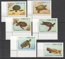 UU894 1983 CUBA FAUNA REPTILES MARINE LIFE SEA TURTLES 1SET MNH - Schildpadden