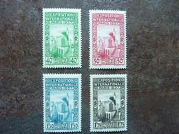 1937  Exposition Internationale De Paris    Y&T=  127 / 130   ** MNH - Ungebraucht