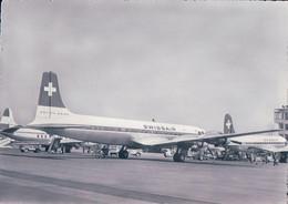 Aviation, Douglas DC 7C De SWISSAIR (1960) 10x15 Plis - 1946-....: Modern Era