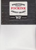 ETICHETTA :  FOCKINK  -  ABRICOT  BRANDY .   AMSTERDAM - HOLLAND - Whisky