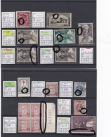 Varietés / Curiosités XX X Et O Sur N° 317 408  411 413 415 235 240 285 241 288 Et 302. - Unclassified