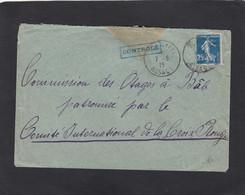 ALSACE RECONQUISE. LETTRE DE THANN POUR LA COMMISSION DES OTAGES A BALE,OUVERTE PAR LA CENSURE FRANCAISE.1915. - Oorlog 1914-18