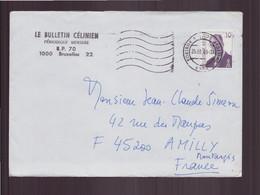 """Belgique, Enveloppe à En-tête """" Le Bulletin Célinien """" Du 25 Mars 1999 De Kortrijk Pour Amilly - Storia Postale"""