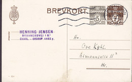 Denmark Postal Stationery Ganzsache (158) 3+7 Øre Brannersvej CHARLOTTENLUND-Ordrup KØBENHAVN Omk. 1946 HELLERUP - Postal Stationery