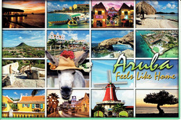ARUBA - Feels Like Home - Multivues - Affr Philatélique - Aruba