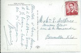 Zichtkaart Keulen Met OCB 925 - Afstempeling POSTES-POSTERIJEN / BPS 8 - 1953-1972 Glasses