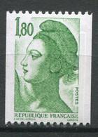 21242 FRANCE N°2378e**(Yvert) 1F80 Vert Liberté : Bande Phosphore à Cheval Verticalement (25/75)   1985  TB - Varietà: 1980-89 Nuovi