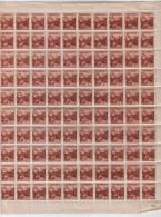 Slovaquie / Slovakia 1943 Serie Courante (sans Filigrane-1943) Yvert-43a-MNH Sheet (10x10)** - Nuevos