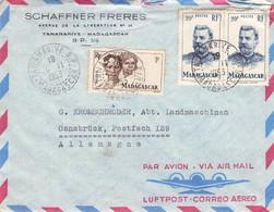 MAGASCAR - AIRMAIL 1953 TANANARIVE > OSNABRÜCK/DE / QE53 - Aéreo