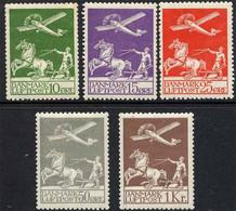 DANEMARK - DENMARK / 1925-30 POSTE AERIENNE # 1 A 5 * - MLH / COTE 400.00 Euro (ref T1910) - Airmail
