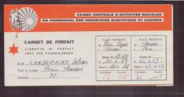 """Carnet De Forfait , CCAS """" Paris-Thonon-les-bains """" Du 27 Janvier 1969 - Unclassified"""