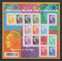 """FRANCE 2009 - Feuillet """"Les Couleurs De Marianne"""" - Yvert  Bloc F4409 - Ungebraucht"""