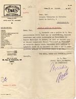 """COMPANHIA DE SEGUROS """"TAGUS""""CARTA - Portugal"""