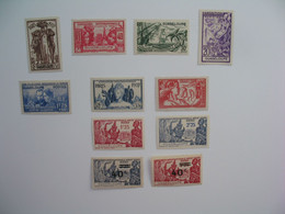 Guadeloupe Stamps French Colonies N°133 à 138 + 139 +140 / 141 + 163/164  Neuf */** NSG   à Voir - Ungebraucht