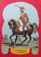 Plaque Découpée Soldats De L'empire Offerte Par Les Fromages Mère Picon. Vers 1960. N° 18 - Plaques En Tôle (après 1960)