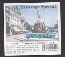 Etiquette De Bière De Garde -  Montpellier  Brasserie Du Caroux à Colombières Sur Orb  (34) - Beer
